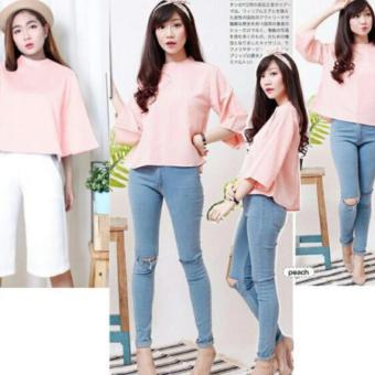 Harga dc blouse gaine - Peach
