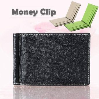 Harga XCSource Faux Leather Men Business Style Money Clip Wallet ID Card Holder Slim - Abu-abu