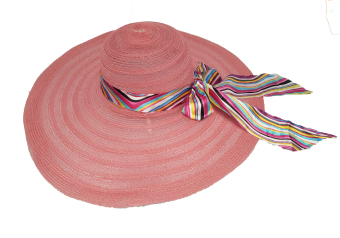 Harga D & D Fashion Floppy Hat Wide Ribbon / Topi Pantai Lebar Pita Pelangi - Pink Salem