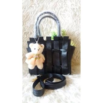 Harga DoubleC Fashion Tas Beauty Black