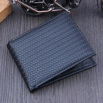 Harga Men Bifold Business Leather Wallet ID Credit Card Holder Purse Pockets - intl