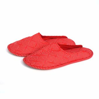 Harga Uchii - Cotton Home Slipper - Red Dots Pattern - M