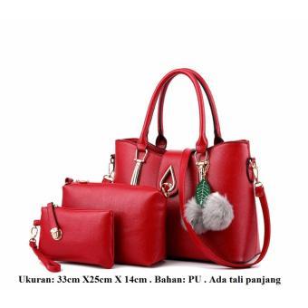 Tas wanita , tas paket 3in1 wanita , tas tangan wanita , handbag murah , Tas