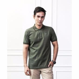 Harga Crocodile Men Polo Shirt - Olive Green - Striped Collar M