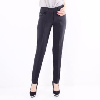 Celana panjang wanita Slim Fit Formal - (Dark Grey) C007