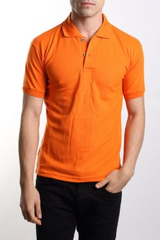 Harga VM - Kaos polo shirt polos orange pendek - simple short polo shirt