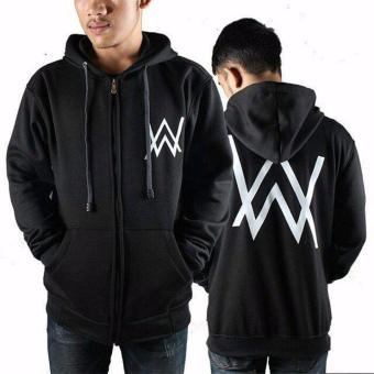 Jaket Hoodie Zipper Alan Walker Best Seller - Black
