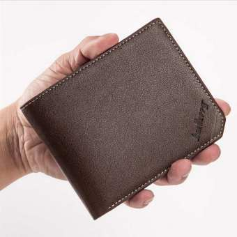 Harga Baellerry Casual Vertical Bifold Wallet Color:Khaki