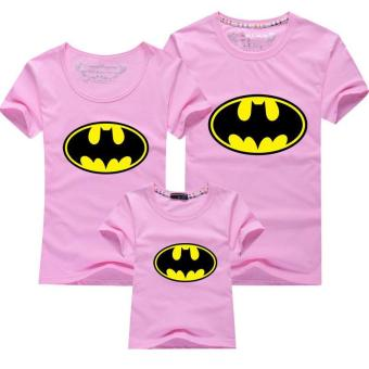 Harga Father Mother Daughter Son T-Shirt Outfit Family Matching Clothes(Kids Batman)