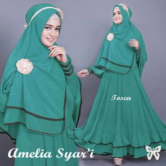 Harga Missira Amelia Tosca maxi busui+bergo jersey, fit to L