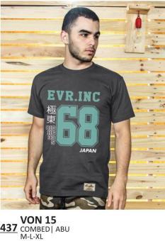 Everflow | T-Shirt / Kaos Distro Pria - VON 15 | Warna : Abu