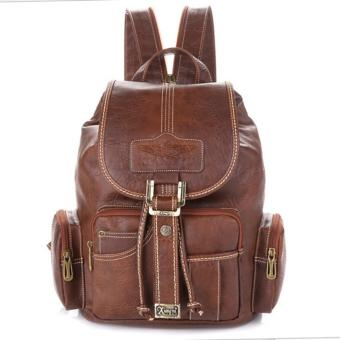 Harga VERNYX - Women's SImple Backpack Bag TSX612 Brown - Tas Ransel Wanita