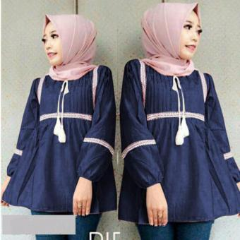 Harga DoubleC Fashion Raisya Tops Navy