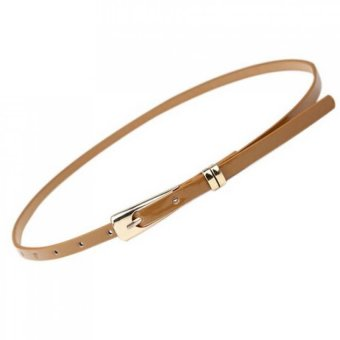Harga Women's Slender Candy Buckle Belt