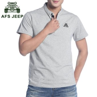 Harga AFSJEEP men's cotton collar collar loose POLO shirt - intl