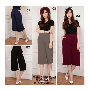 168 Collection Celana Pendek Marina Long Pant-Hitam