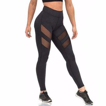 Hequ HimanJie Women Sports Yoga Pants Running Tights Hollow net yarn Leggings Gym Skinny Fitness Sportswear