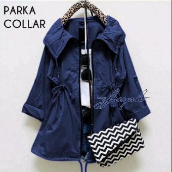 Harga DoubleC Fashion jaket Parka collar Navy