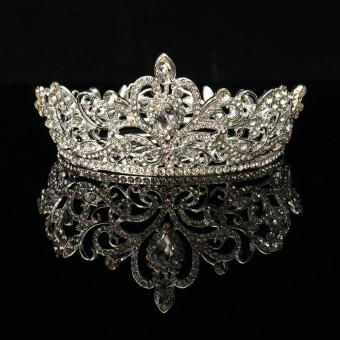 Gorgeou Eegantuxuriou Rhinsetone Pear Crown Wedding Party Bride Source · Crystal Rhinestone Queen Crown Tiara Wedding