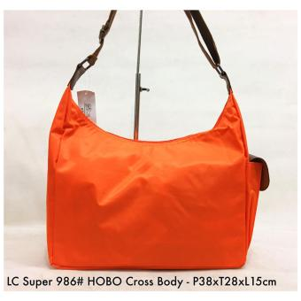 Harga Tas Wanita Fashion Super Hobo Cross Body 986 - 5 Orange