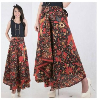 Harga 168 Collection Rok Lilit Zee Zee Batik Long Skirt-Multicolor