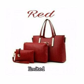 Harga DoubleC Fashion Tas red 3in1