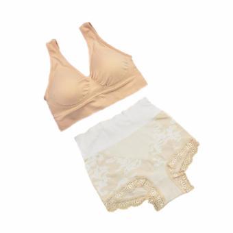 Munafie Bra Set - 1 Pcs Bra + 1 Pcs Celana Dalam - Size L -