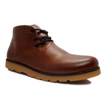 D-Island Shoes Boots Manhood Leather - Cokelat