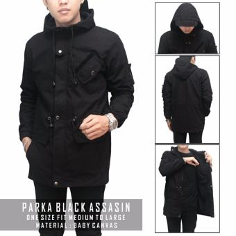 Harga Jaket Parka Assasin Full Black