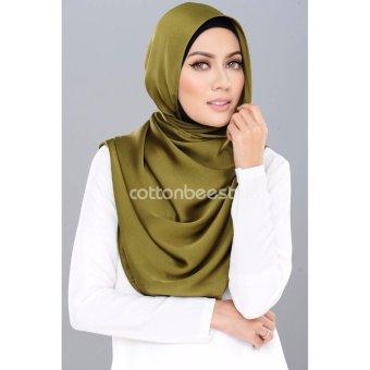 Auzara Hijab - Pashmina - Satin Premium - Olive Green