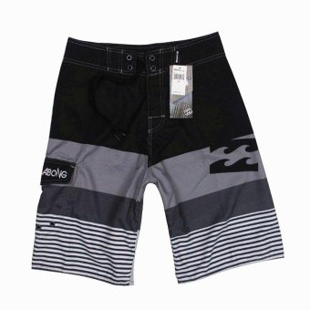 Harga Billabong Men's New Fashion Boardshorts Quick-drying Fabric Beach Shorts With Drawcord Striped Surfing Shorts - intl