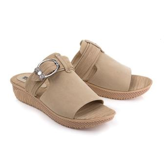Harga Blackkelly Sandal Wedges Selena LDO 645 - Krem