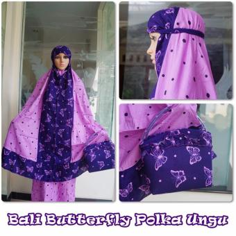Harga NEW COLLECTION !! MUKENA BALI RAYON BUTTERFLY UNGU