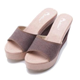 Harga Dr. Kevin Women Wedge Sandals 67161 - Brown
