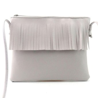 Harga Women Fashion Tassel Handbag Shoulder Bag Small Tote Ladies Purse White - intl