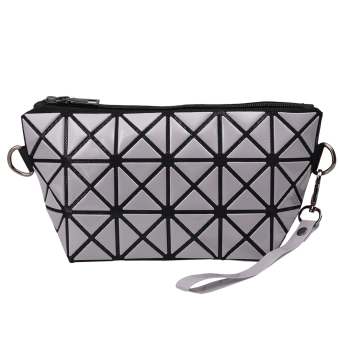 Harga Yika Women Foldable Geometric Polished Lattice Clutch Bag (Gray) - intl