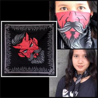 Harga CK Zakdoek ZD013BLACK Bandana Motif Monster Black