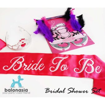 Harga Balonasia Bride-to-be Bridal Shower Set Pesta - Hot Pink