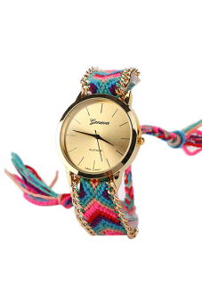 Harga Blue lans Geneva Cotton Blend Watch (Multicolor)