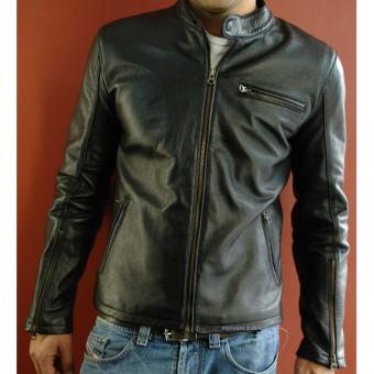Harga Jaket Kulit Bikers Full Black