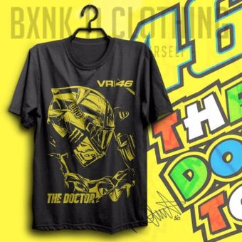 Harga Best Seller !! Kaos Valentino Rossi HITAM ( Vale 46, The Doctor, Vr46 , Valen Tino Distro, Motogp , Race )