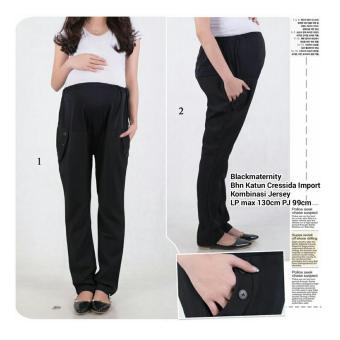 Home 168 Collection Celana Verlitta Long Pant Hitam Page 2 SB Colection Celana Panjang Hamil Blackmaternity