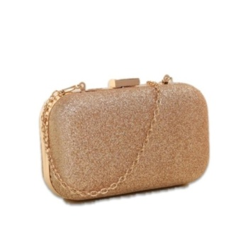Harga Zen Blossom Shinny Rhinestone Evening Clutch - Gold
