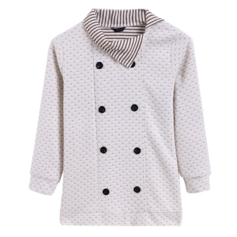 Harga Fashion New Korea Jacket Womens Fashion Grid Knitting Top Long Coat Top Hot Sale - intl