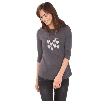 Esprit Beaded Long Sleeve Top - Gunmetal 5