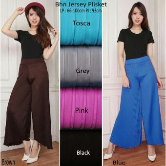 168 Collection Celana Kulot Kenyra Plisket Long Pant-Pink