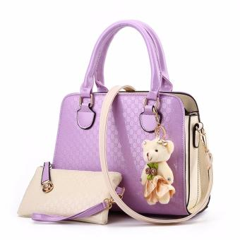 Harga TAS 2in1 396 HANDBAG STYLISH TAS FASHION - Purple