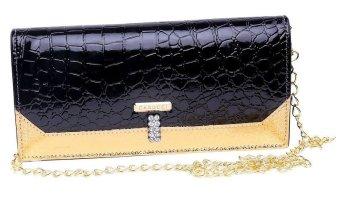 Garucci TRY 4040 Tas Clutch Bag Wanita - Sintetis - Cantik (Hitam Kombinasi)