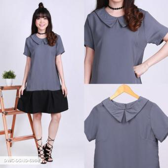 Harga Araiyana Two Tone Collar Mini Dress - Grey