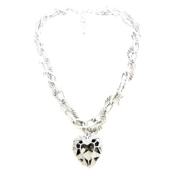 Harga Istana Accessories chain love necklace Silver